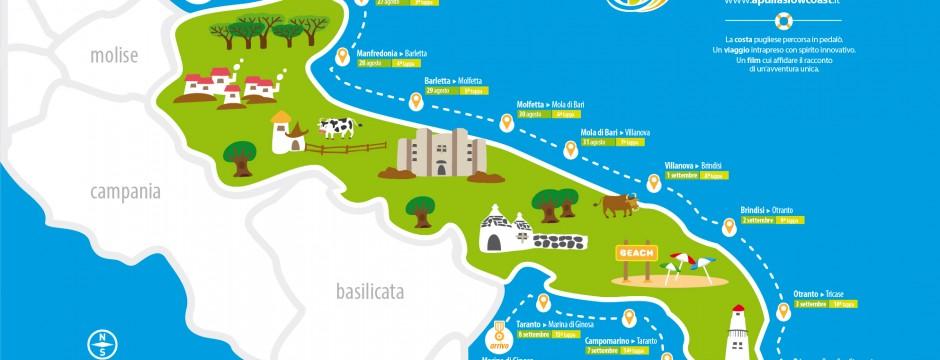 Itinerario del viaggio di Apulia Slow Coast
